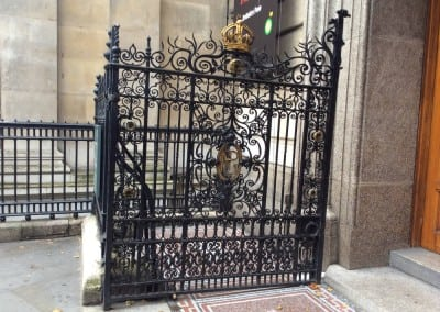 Wrought Iron Gate Repairs for National Portrait Gallery London