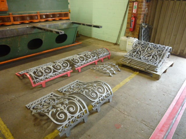 Repaired railings in our workshop