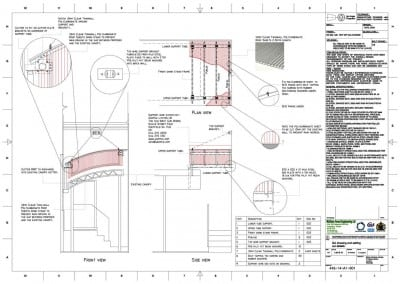 Entrance Canopy CAD Drawing Plan