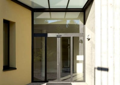 Metal and Glass Entrance Canopy