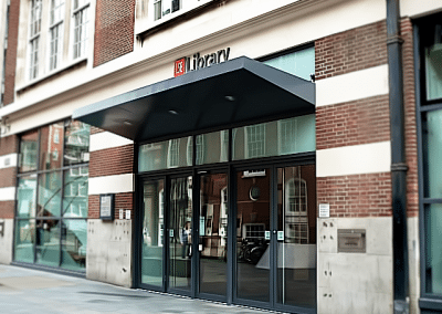 Entrance Canopy – LSE Library, London WC2