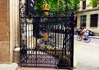 Entrance Gates, National Portrait Gallery, London WC2