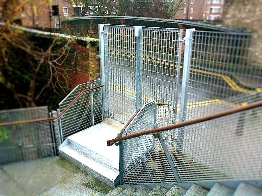 Fire Escape Extension, Bridge Academy, Hackney, London