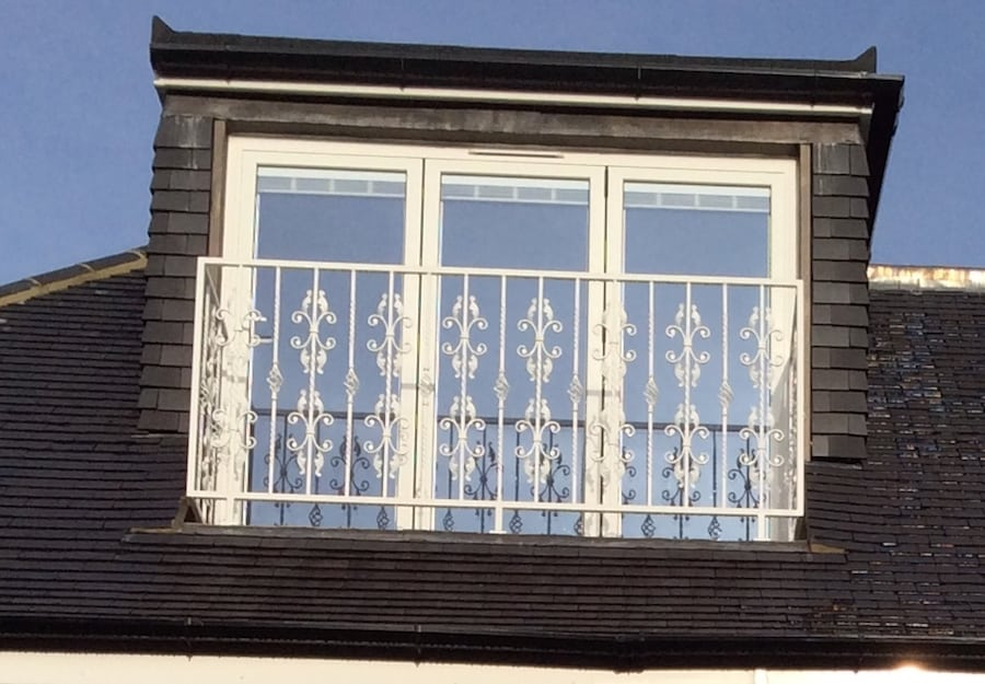 Matching juliet balcony and window railings for a house in for Balcony company