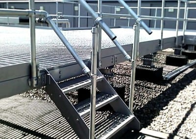 Metal Roof Walkway Fabricated and Installed