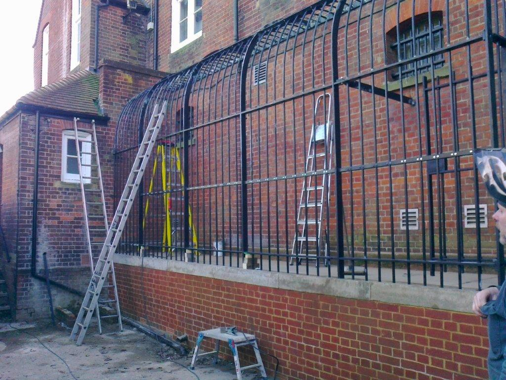 Restoration Of Victorian Exercise Yard Railings Saffron