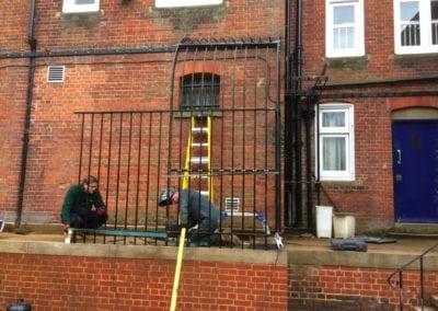 Restoration of Victorian Railings, Saffron Waldon Police Station 9