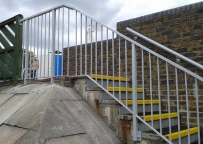 Aluminium handrails, David Lloyd Club Finchley