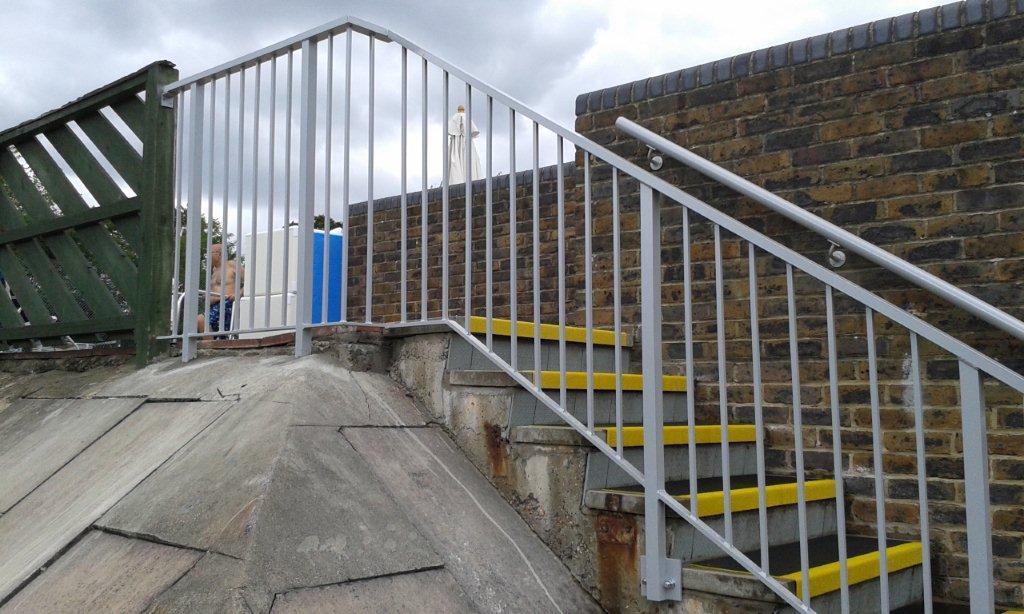 Aluminium handrails, David Lloyd Club Finchley