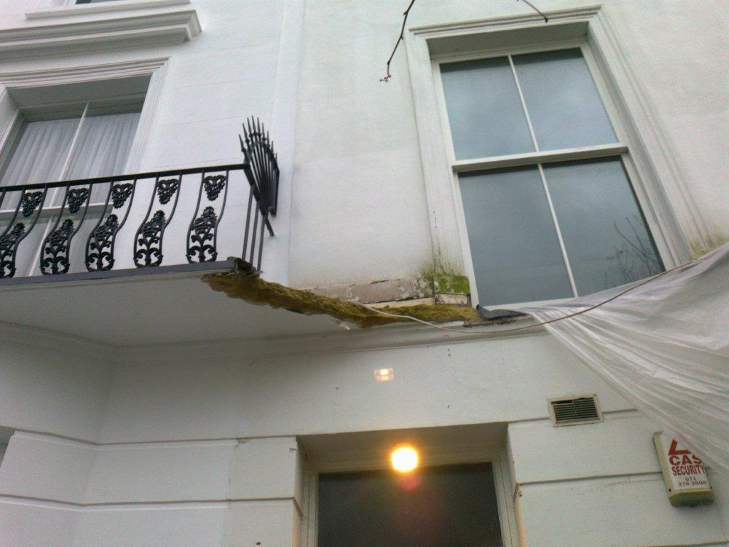 Balcony repairs maida vale london w9 metal fabrication for Balcony repairs