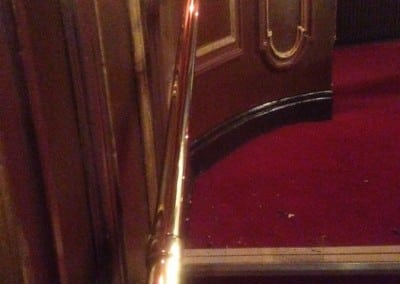 Brass Handrail Repair on Staircase