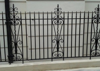 Railing Repairs – Bedford Estates, Ridgmount Gardens, London WC1E