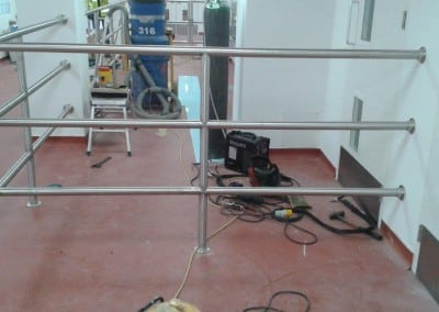 Stainless Steel Handrails and Gates, Allied Bakeries, Stevenage, Hertfordshire