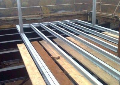 Steel Support Framework for Loft Housing, Central London