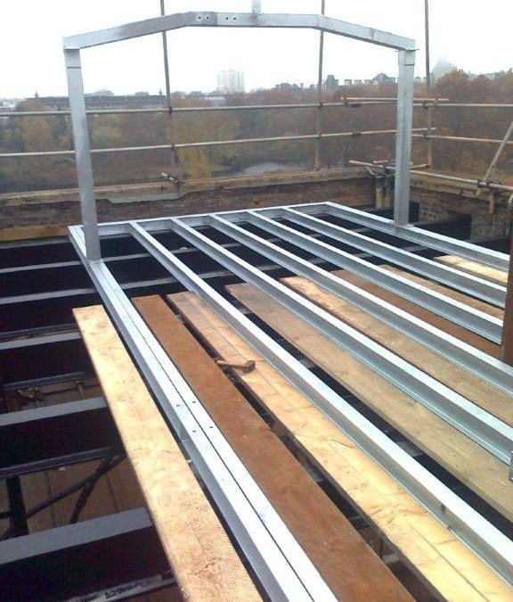 Steel Support Framework for Loft Housing, Central London