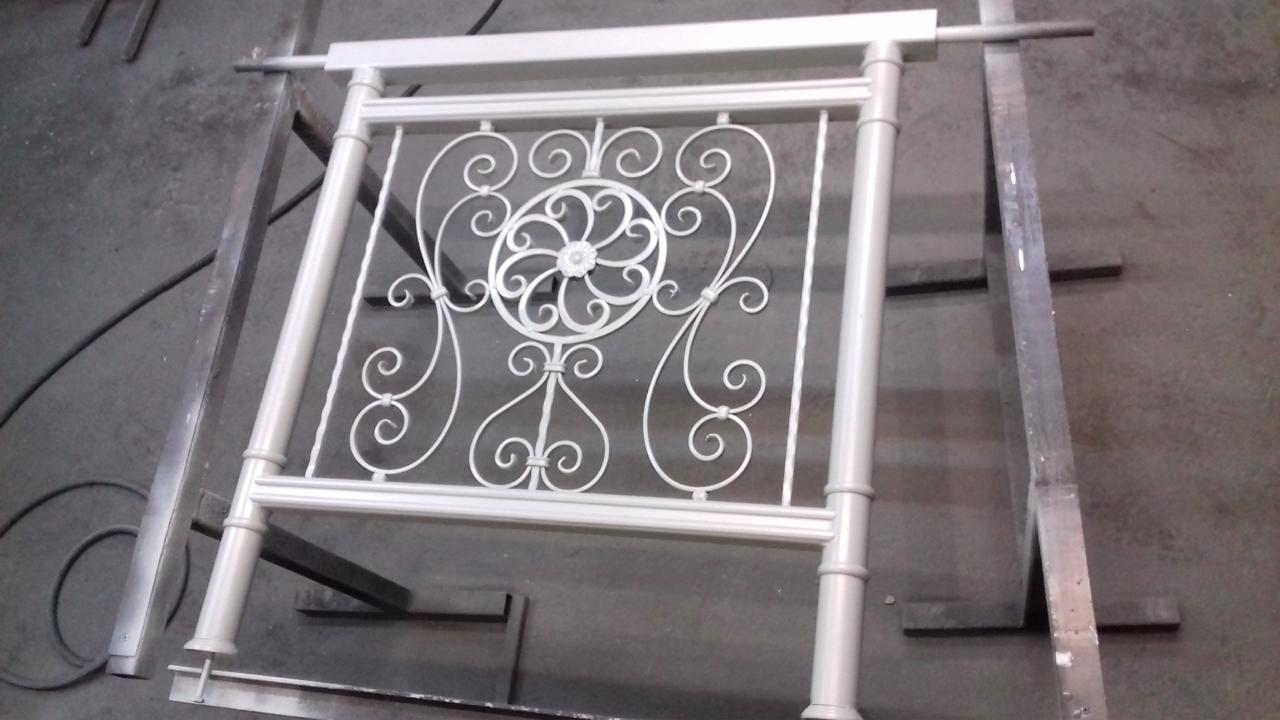 Ornamental railing panels - New Railing Panel In Our Workshop