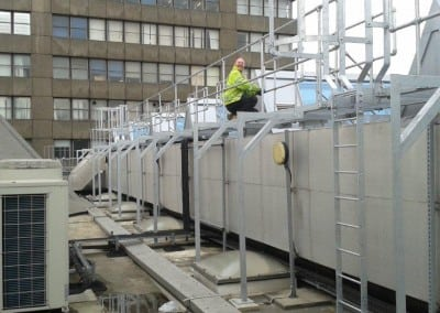 Walkway with access ladders, London Metropolitan University, Holloway