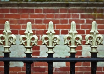 Gold Painted Finials, Chelsea