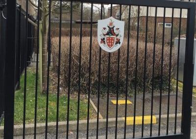 Aluminium Plaques displaying school crest, Davenant Foundation School, Loughton, Essex