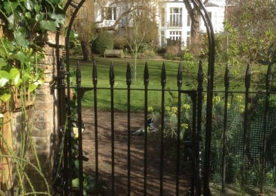 Wrought Iron Metal Victorian Gate Repair & New Arch, Holland Park, London W8