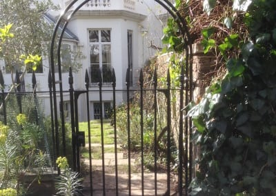 Metal Gate Repairs Wrought Iron Metal Victorian Gate and Arch at Holland Park London W8