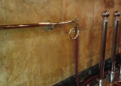 Brass Handrail Repairs London - Palace Theatre London 1