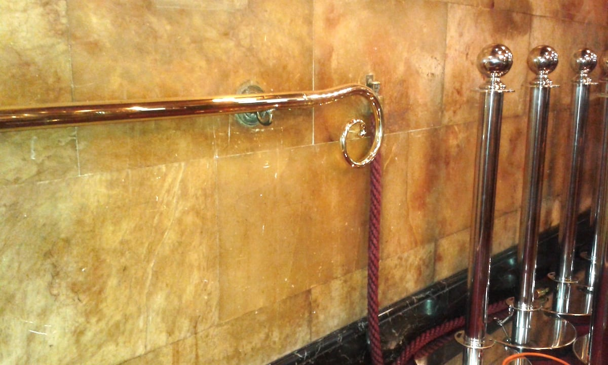 Refurbished Brass Handrails London's Palace Theatre