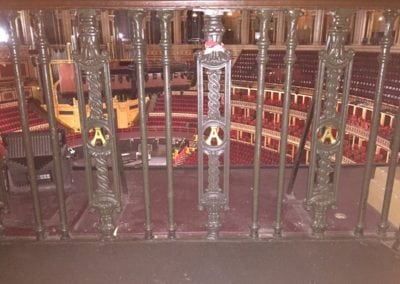 Wrought Iron Ballustrade Panels and Spindles Royal Albert Hall London 3