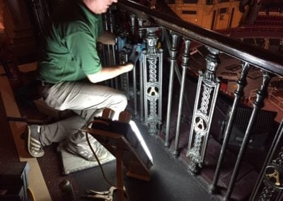 Wrought Iron Ballustrade Panels and Spindles Royal Albert Hall London