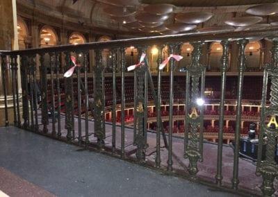 Wrought Iron Ballustrade Panels and Spindles Royal Albert Hall London 5