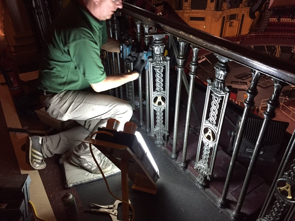 Wrought Iron Ballustrade Panels and Spindles Royal Albert Hall London
