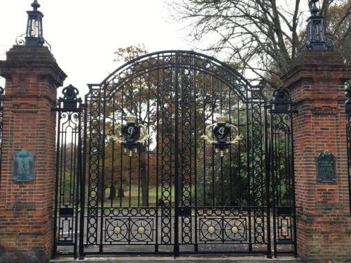 Refurbishment of Arnos Park Gates, London N14