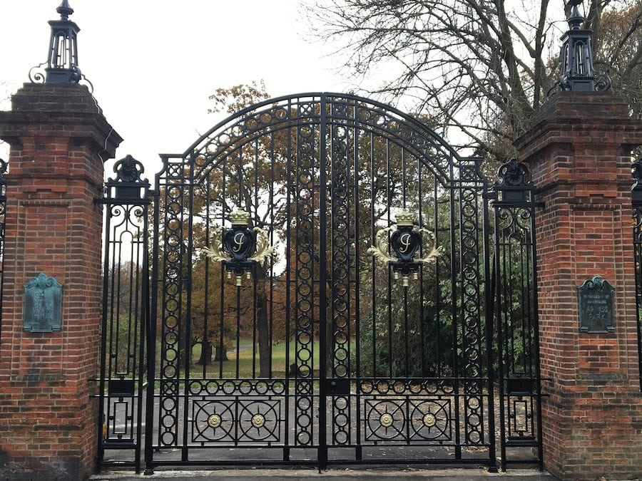 Refurbishment of Arnos Park Gates, Enfield, London N14