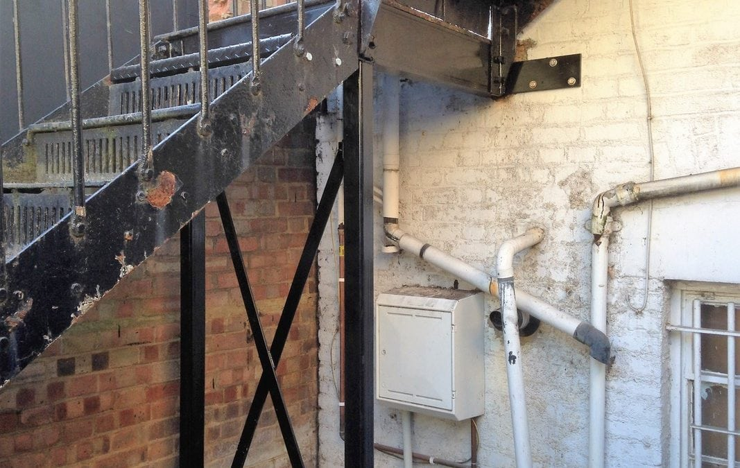 Repair of Underside of Metal Staircase