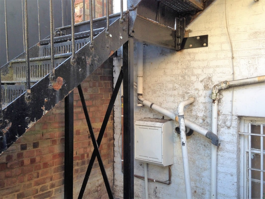Repair Of Underside Of Metal Staircase Metal Fabrication