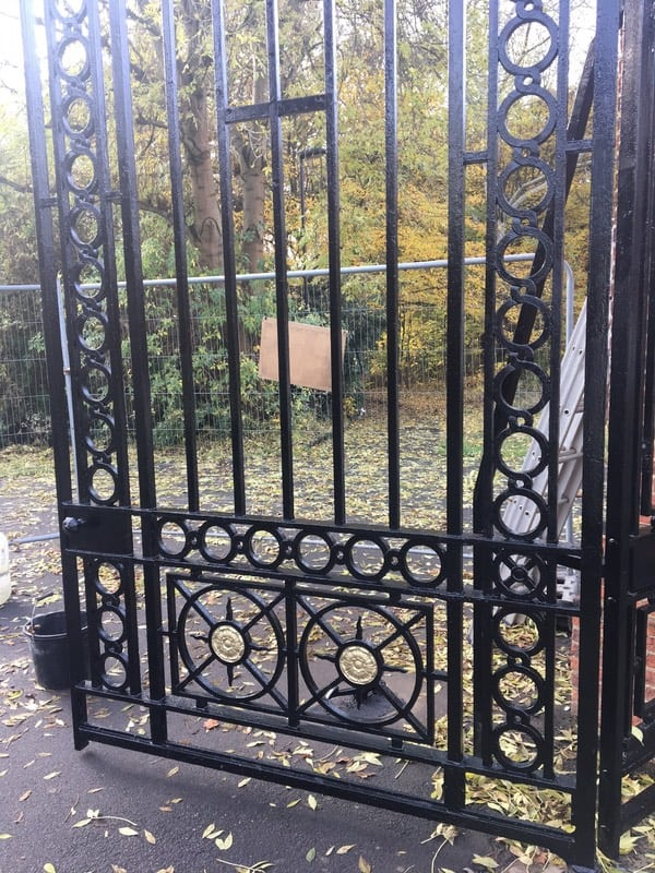 Refurbishment Of Arnos Park Gates Enfield London N14