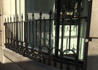 Grade II Listed Metalwork London Balustrade Panel Restoration One Aldwych Hotel 1