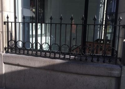 Grade II Listed Metalwork London Balustrade Panel Restoration One Aldwych Hotel 3