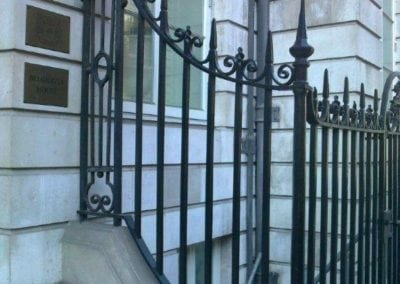 New Wrought Iron Railings London Mayfair W1 2