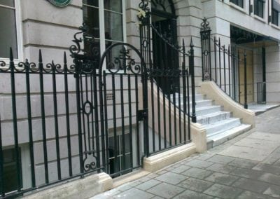New Wrought Iron Railings London Mayfair W1 3