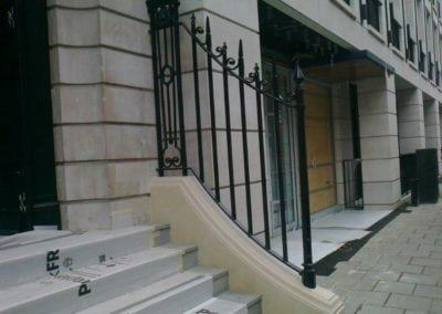 New Wrought Iron Railings London Mayfair W1 4