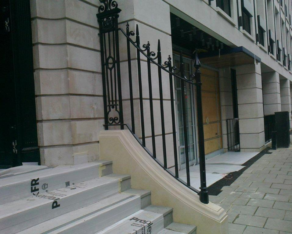 New Wrought Iron Railings Mayfair W1 Metal Fabrication