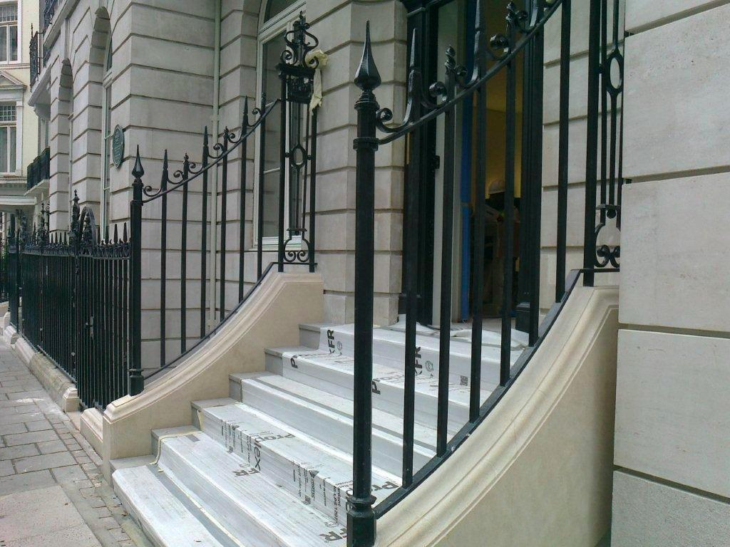 New wrought iron railings mayfair w metal fabrication