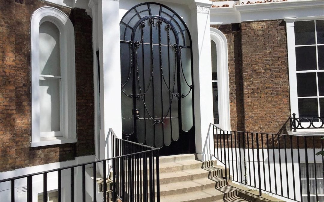 Refurbishment of Metal Door, Porchester Terrace, Bayswater, London W2