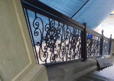 Wrought Iron Railing Fabrication for New Mansion in Lancashire 11