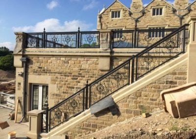 Wrought Iron Railing Fabrication for New Mansion in Lancashire 12