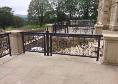 Wrought Iron Railing Fabrication for New Mansion in Lancashire 4