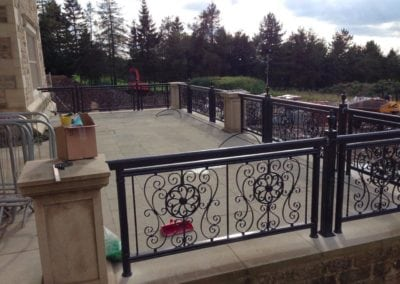 Wrought Iron Railing Fabrication for New Mansion in Lancashire 7