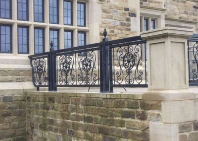 Wrought Iron Railing Fabrication for New Mansion in Lancashire 8