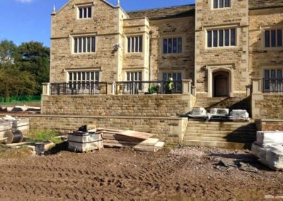 Wrought Iron Railings for New Mansion in Lancashire 1